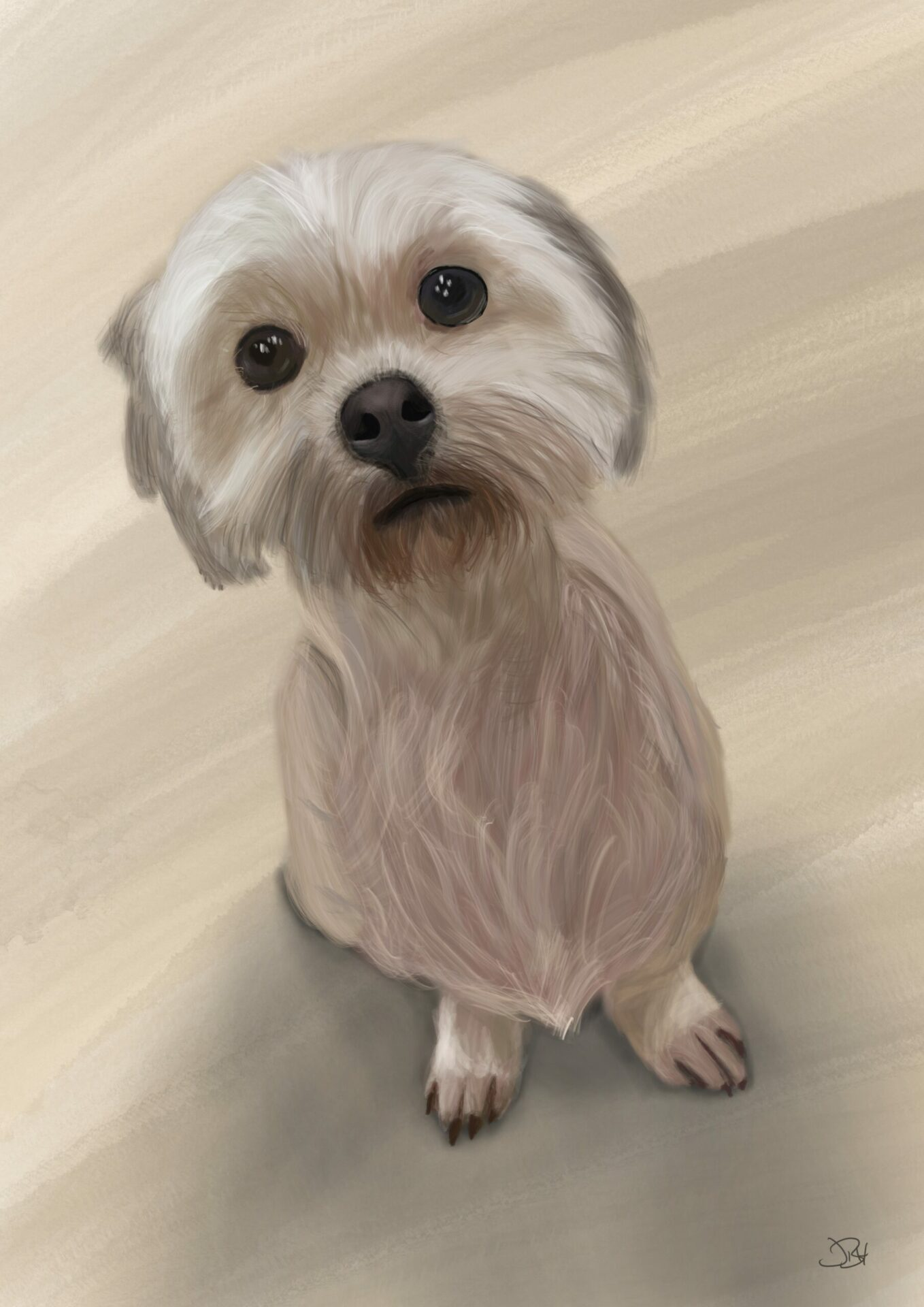 Elsa pet portrait